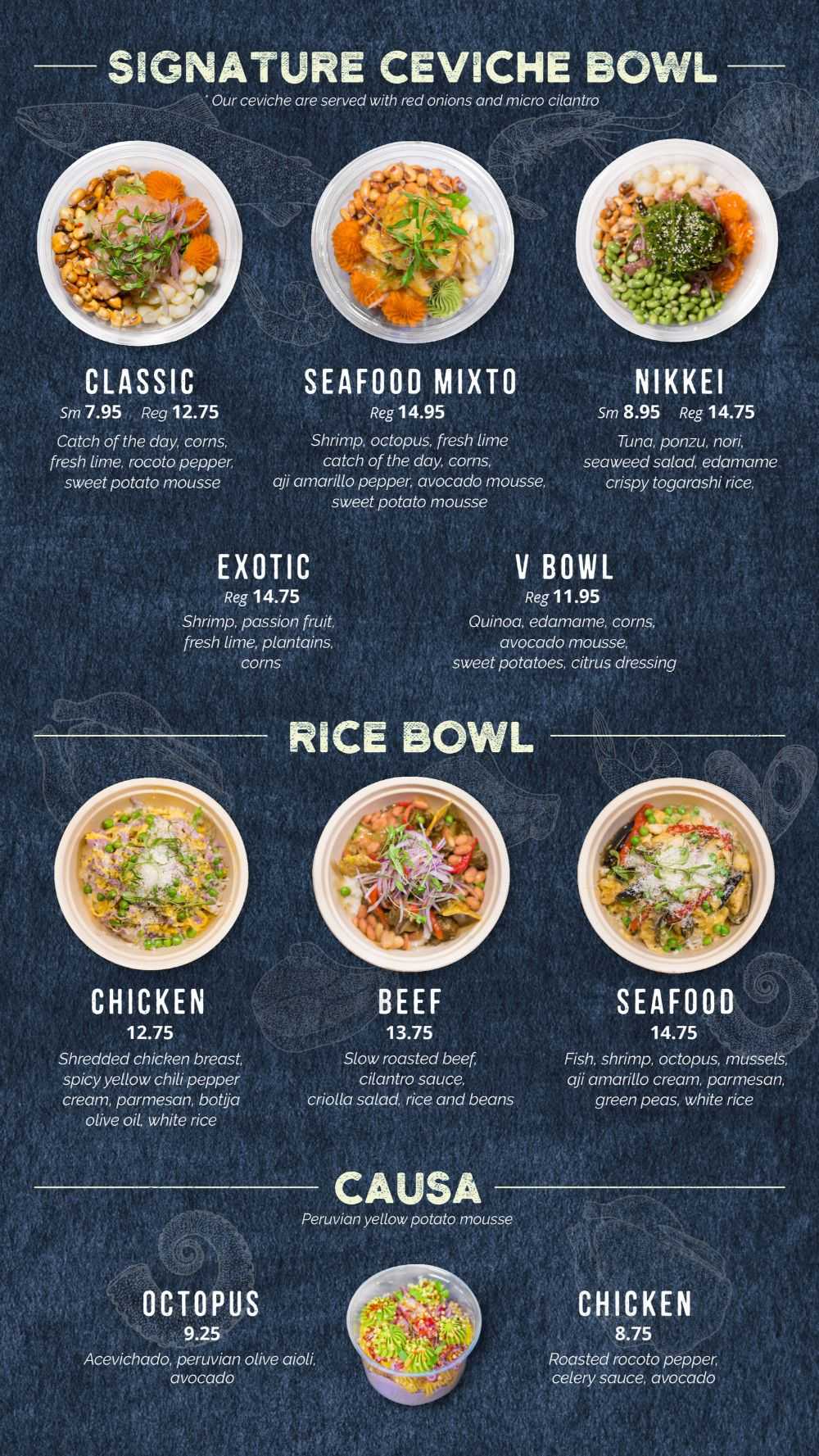 Mission Ceviche Menu 1